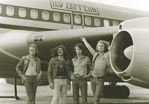 Led Zeppelin Aeroplane large fabric poster/ flag 1100mm x 750mm  (hr)